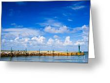 Beautiful Sea Sky Greeting Card