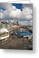 Beautiful Seattle Sky Greeting Card by Mike Reid