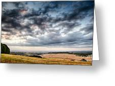 Beautiful Skies Over Farmland Greeting Card