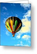 Beautiful Stripped Hot Air Balloon Greeting Card