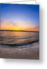 Beautiful Sunrise On A Red Sea Beach Greeting Card