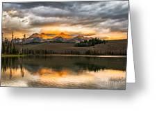 Beautiful Sunrise On Little Redfish Lake Greeting Card