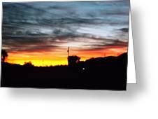 Beautiful Sunset In East Tn Greeting Card