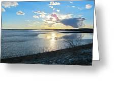 Beautiful Sunset Iowa River Greeting Card
