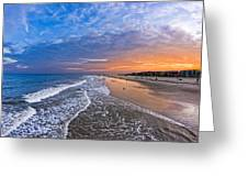 Beautiful Sunset Over Tybee Island Greeting Card by Mark E Tisdale