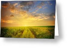 Beautiful Sunsets Photos Greeting Card
