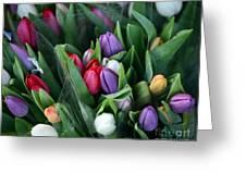 Beautiful Tulips Bouquet Greeting Card