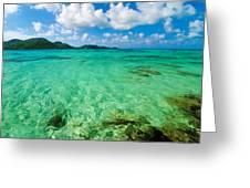 Beautiful Turquoise Water Greeting Card