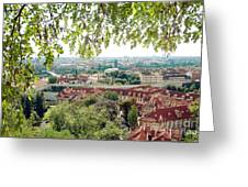 Beautiful View Of Prague Greeting Card