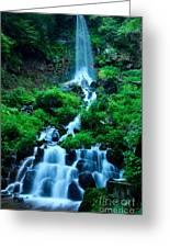 Beautiful Waterfalls In Karuizawa Japan Greeting Card
