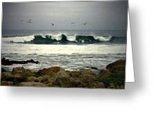 Beautiful Waves On The Monterey Peninsula Greeting Card