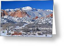 Beautiful Winter Garden Of The Gods Greeting Card