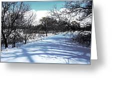 Beautiful Winter View Greeting Card