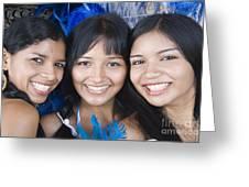 Beautiful Women Of Brazil 10 Greeting Card