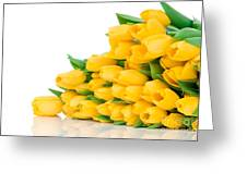 Beautiful Yellow Tulips Valentine Greeting Card by Boon Mee