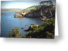 Beautifully Rugged Shoreline At Point Lobos Two Greeting Card
