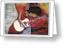 Beauty And Her Guitar Greeting Card