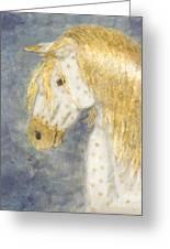 Beauty And Strength  Golden Appaloosa Greeting Card