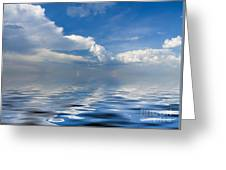 beauty Clouds over Sea Greeting Card by Boon Mee