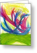 Beauty Gives Joy Greeting Card by Kelly K H B