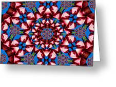 Beauty Of Aruba Kaleidoscope Greeting Card