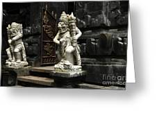 Beauty Of Bali Indonesia Statues 1 Greeting Card