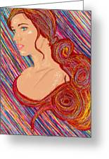 Beauty Of Hair Abstract Greeting Card