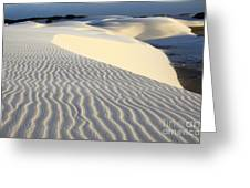 Beauty Of Sand Dunes Brazil Greeting Card