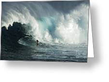 Beauty Of Surfing Jaws Maui 7 Greeting Card