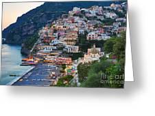 Beauty Of The Amalfi Coast  Greeting Card by Leslie Leda