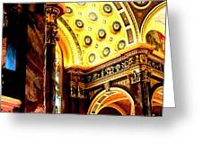 Beauty Of The Basilica Greeting Card