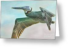 Beauty Of The Pelican Greeting Card