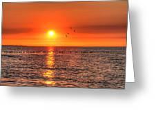Beauty Sunset Greeting Card