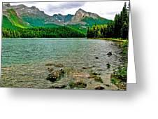 Beauvert Lake In Jasper Np-ab Greeting Card