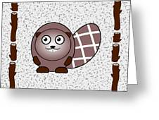 Beaver - Animals - Art For Kids Greeting Card