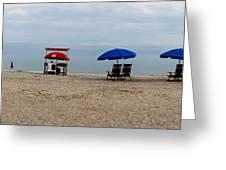 Beach Chairs Panorama Hilton Head  Greeting Card