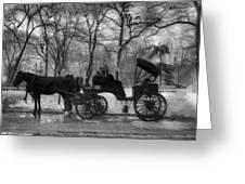 Beckoning Carriage Greeting Card
