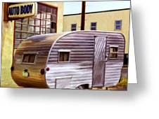 Becky's Vintage Travel Trailer Greeting Card