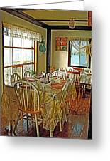 Bed And Breakfast Over The Water At Fishing Point In Saint Anthony-nl Greeting Card