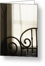 Bed By The Window Greeting Card