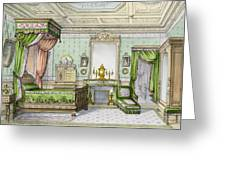 Bedroom In The Renaissance Style Greeting Card