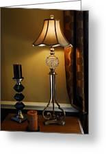 Bedroom Lamp Greeting Card