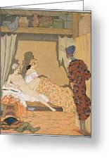 Bedroom Scene Painting By Georges Barbier