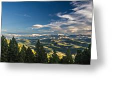 Panoramic View Of The Foothills Greeting Card