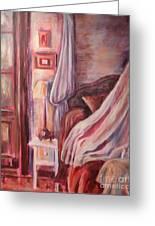 Bedside Lamp Greeting Card by Ellen Howell