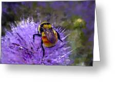 Bee Flower Greeting Card by Roger Snyder