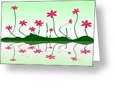 Bee Flowers Greeting Card