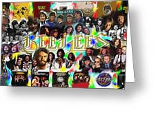 Bee Gees History Montage Greeting Card