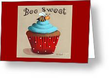 Bee Sweet Cupcake Greeting Card by Catherine Holman