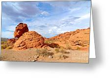 Beehive Rock Formation Under A Stormy Sky In Nevada Valley Of Fire State Park Greeting Card